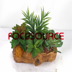 Artificial Succulent Biljke Bonsai-SM023K-O-045