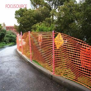 Orange plastic safety fence