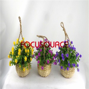 Artificial Hanging Basket Plant-HY136-H-19-HG-040