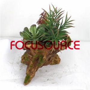 Artificial Succulent Plants Bonsai-SM008KM-O-016
