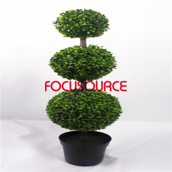 Artificial Grass Ball Bonsai H100cm 3 Layers Milan 3 Balls 18 22 30cm Bonsai China Qingdao Focusource Industrial Trade