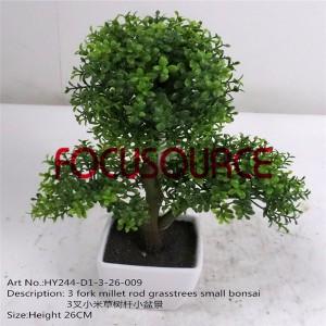 Artificial Small Bonsai Tree-HY244-D1-3-26-009