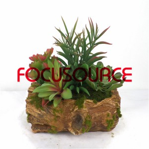 Artificial Succulent Biljke Bonsai-SM023KM-O-046