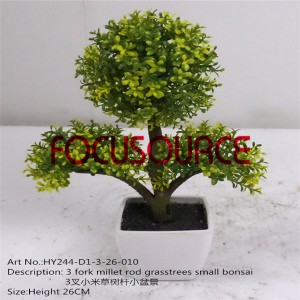Artificial Small Bonsai Tree-HY244-D1-3-26-010