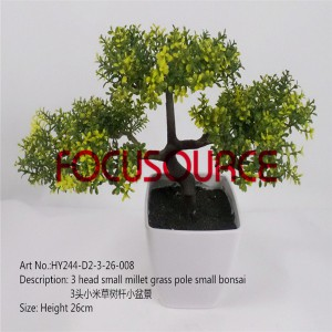 Artificial Small Bonsai Tree-HY244-D2-3-26-008