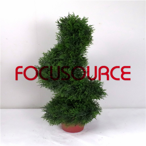Artificial  Spiral Boxwood Tree-HY218-J3-H80-006 Featured Image