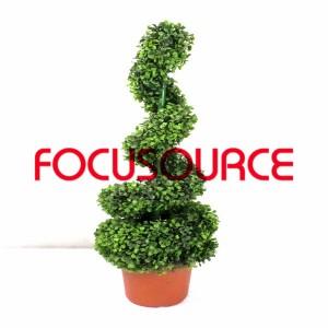 Artificial Boxwood Topiary Spiralni Tree -HY08103-J3-H90-019
