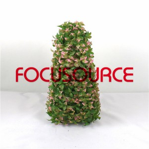 Artificial Grass Tower With Flower-HY295-J1-H64-020