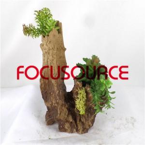 Artificial Succulent Plants Bonsai-SM001K-O-001