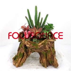 Artificial Succulent Biljke Bonsai-SM020KM-O-040