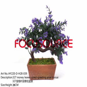 Kunstlik Väike Bonsai Tree-HY220-D-H28-039