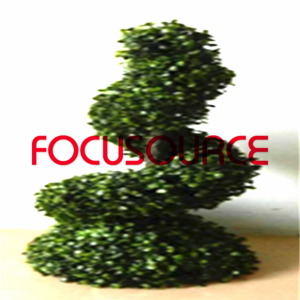 Artificial Boxwood Topiary Spiral Tree -HY08103-J3-H60-008