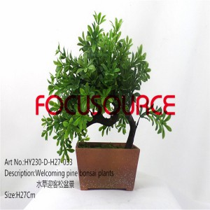 Kunstlik Väike Bonsai Tree-HY230-D-H27-033