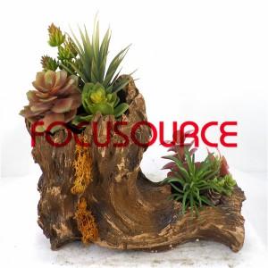 Artificial Succulent Plants Bonsai-SM010K-O-019