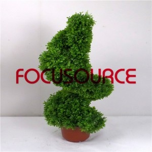 Artificial Boxwood Topiary Grass Tower-HY181-J3-H80-002