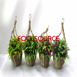 Artificial Hanging Basket Plant-HY192+HY205-H-18-037