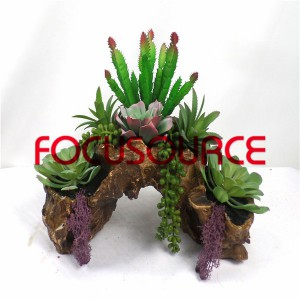 Artificial Succulent Plants Bonsai-SM006K-O-053