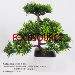 Artificial Small Bonsai Tree-HY242-D3-5-37-001