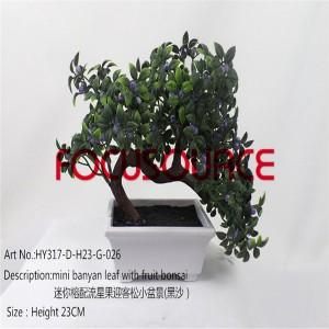 Artificial Small Bonsai Tree-HY317-D-H23-G-026 SAND