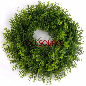 Wall Hanging Artificial Grass Weath-HY143A-38cm