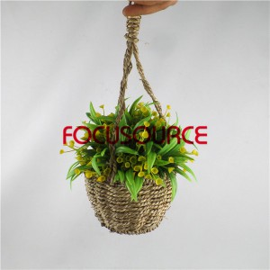 Artificial Hanging Basket Plant-HY192 + HY205-H-18-037 GY5