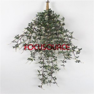 Artificial Hanging Leaf For Wall Decor-HY317-L-H90-H-096