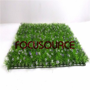 Artificial Grass Carpet -HY0948S   60X40CM GN001 with purple flowers