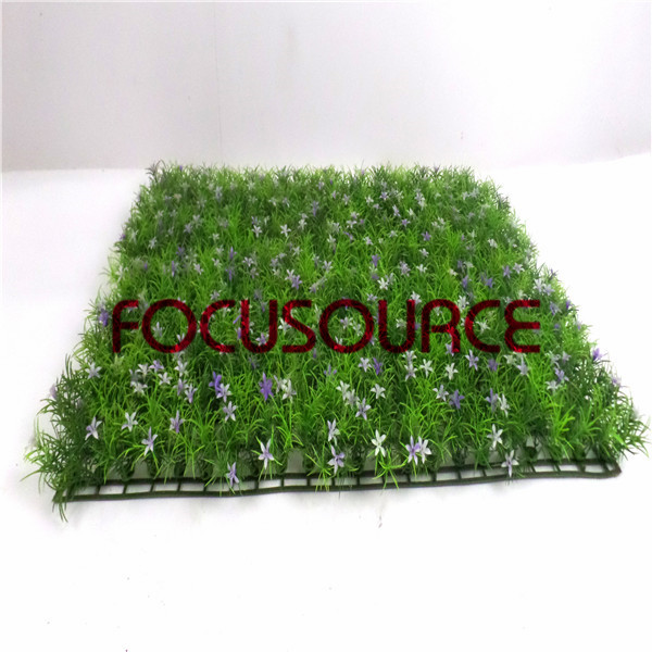 Artificial Grass Carpet -HY0948S   60X40CM GN001 with purple flowers Featured Image