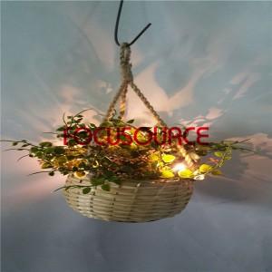 Artificial Viseće Basket biljka sa LED rasvjeta