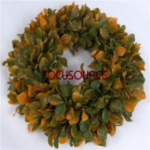 Artificial Grass Wreaths-HY206-34cm-GR004