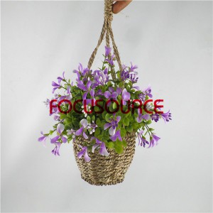 Artificial Hanging Basket Plant-HY143-H-19-HG-040 PU7
