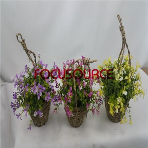 Artificial Hanging Basket Plant-HY143-H-19-HG