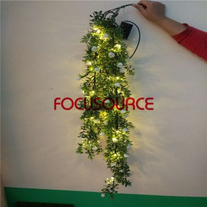 Artificial LED Hanging Leaf For Wall Decor-HY231-L5-H112-026-H