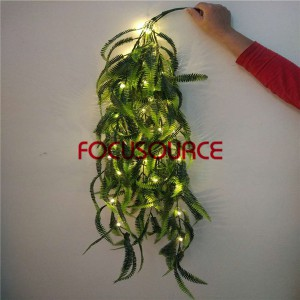 Artificial LED Hanging Leaf For Wall Decor-HY257-L5-H110-036