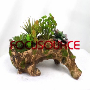 Artificial Succulent Biljke Bonsai-SM016KM-O-032