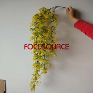 Artificial Hanging Leaf For Wall Decor-HY205-L5-H100-108