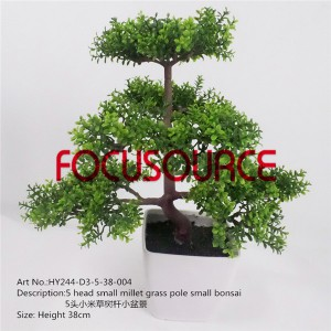 Artificial Small Bonsai Tree-HY244-D3-5-38-004