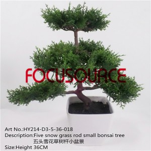 Artificial Kecil Bonsai-HY214-D3-5-36-018