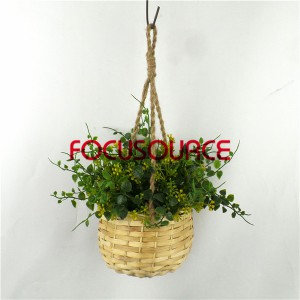 Artificial Hanging Basket Plant-HY228-H-18-H-038 GY5