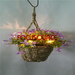 Maiketsetso Hanging Basket Plant Ka LED Lighting