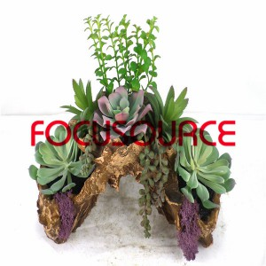 Piante succulente artificiali Bonsai-SM006K-O-011