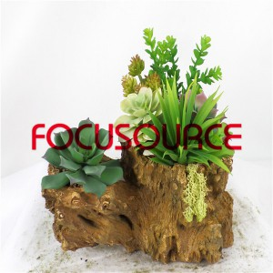 Artificial Succulent Plants Bonsai-SM009K-O-017