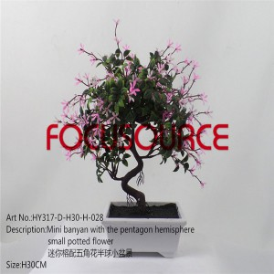 Artificial Small Bonsai Tree-HY317-D-H30-H-028 SAND