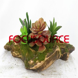 Artificial Succulent Plants Bonsai-SM026KM-O-052