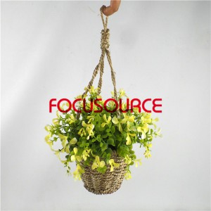 Artificial Hanging Basket Plant-HY143-H-19-HG-040  YL11