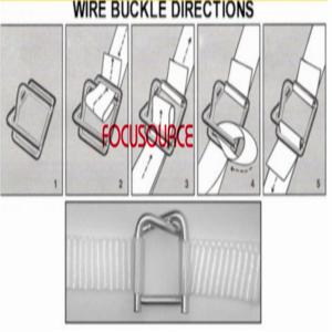Steel wire buckle