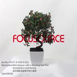 Artificial Small Bonsai Tree-HY317-D-H30-G-025 SAND