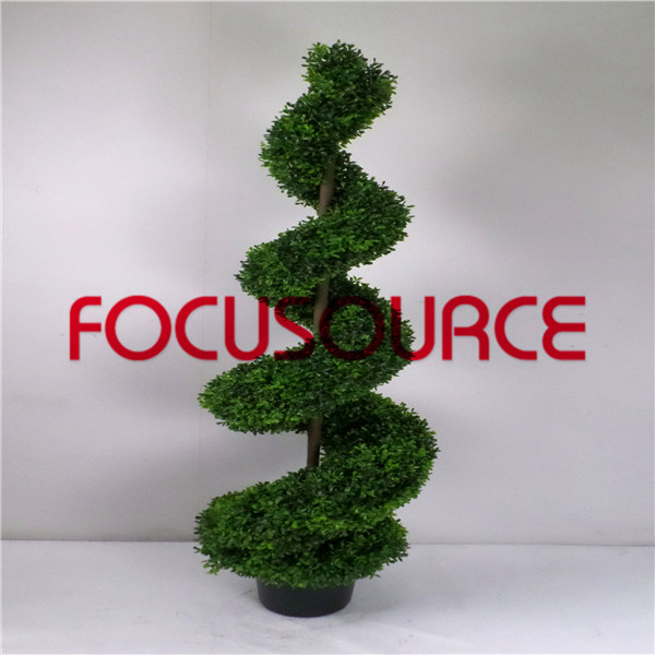 Artificial  Spiral Boxwood Tree-HY216-J3-H150-013 Featured Image