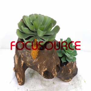 Piante succulente artificiali Bonsai-SM011K-O-021