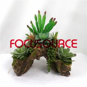 Artificial Succulent Plants Bonsai-SM006KM-O-054